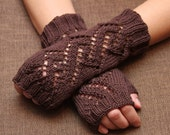 Lacey fingerless gloves,handwear, wristwarmers 100%cotton