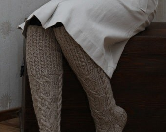 Knitted knee socks nice and warm