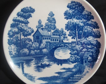 Vintage Lakeview Nasco Hand-Painted Dinner Plates - Set of 4 Japan