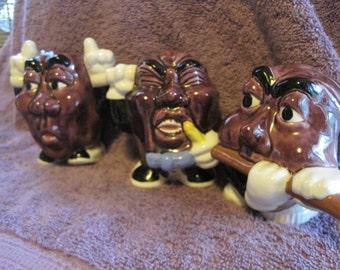 Hand-Painted Ceramic California Raisins Singing, Freaking, and Playing....