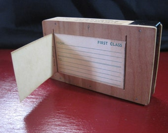 Vintage Slide Transport Box For Glass Slides or Film - Most Unusual 1950's