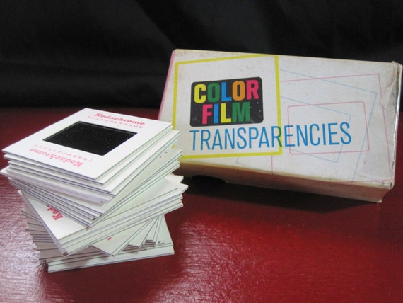 Vintage Kodachrome Color Film Tranparencies in Date Stamped Box 1963