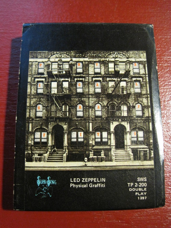 Led Zeppelin / Physical Grafitti 1975 8-Track with Cover Art Sleeve Rare Pink