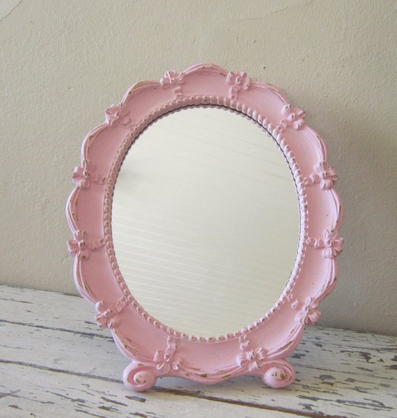 Princess Mirror - Children's Shabby and Chic - Cottage chic Room decor