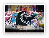 "On the Sidewalks of Montevideo - Graffiti Photo ""El ojo de Horus"" Street Art to Frame"