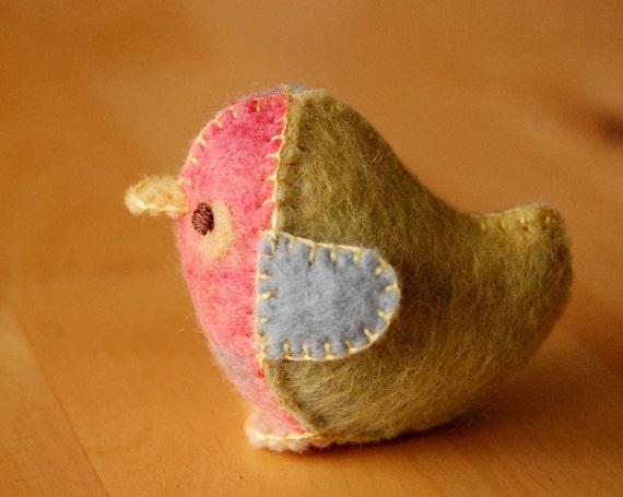 Special Listing for Stephanie -- five felt chick toys