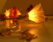 Fall Foliage - Fall Home Decor / Chain of Light with 10 bulbs