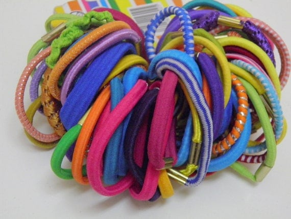 Ponytail, Hairbands, Multi color 60 pcs