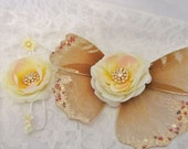 Golden Angel Fairy Wings and Heavenly Headband -- Combined Listing