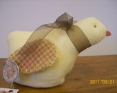 chick pin cushion handmade vintage style shelf sitter easter decoration