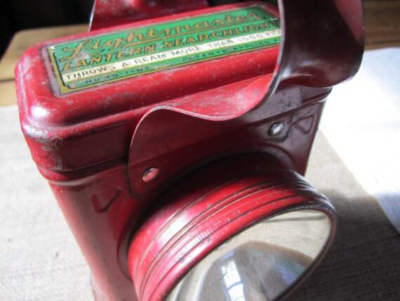 Vintage Rustic Cabin Red Camp Flashlight