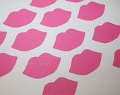 Lips Pink Die Cuts Kiss Hot Pink perfect for your Straws Party Shower Cards Wedding Photo booth Sweet Lips 100 pieces