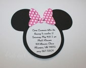 Minnie Mouse Birthday Party Invitations with PINK POLKA DOT bow perfect for your Party Shower 20 Invites