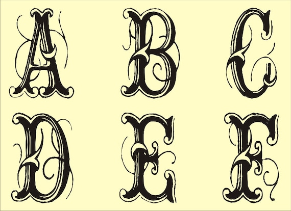 Effortless image with regard to printable fancy lettering