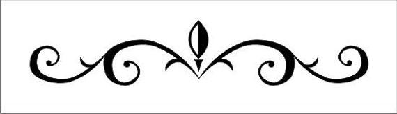 Items similar to Stencil flourish scroll border design, image is ...