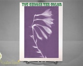 Greeting Card - Hosta Flower Sunprint - You Choose the Color
