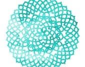 Beautiful Light Blue Watercolor Crochet Pattern 5X7 print