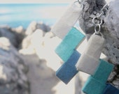 origami earrings-paper jewelry- On the sea