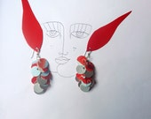 recycled jewelry-recycled tetrapack ecofriendly earrings- unique gift for earth lovers