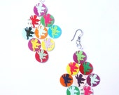 recycled paper earrings-angel earrings -recycled jewelry-colorful gift idea