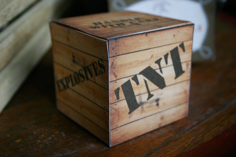 Tnt Gift Box Wild West Cowboy Instant Download Printable