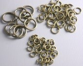 100 MIXED Antique Bronze Open Jump Rings - 4mm, 6mm, 10mm