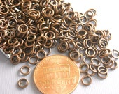 JUMPRING-COPPER-4MM - 100 of 4mm Antique Copper Open Jump Rings
