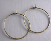 HOOP-AB-WINE-25MM - 20 pcs of 25mm Antique Bronze Hoop Earrings