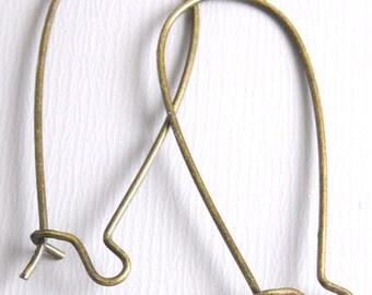 KIDNEY-AB-33MM - 30 pcs of 33mm Antique Bronze Kidney Hoops