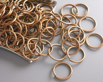 JUMPRING-COPPER-10MM - 50 of 10mm Antique Copper Open Jump Rings