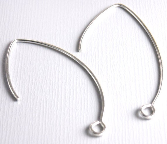 EARWIRE-PLATINUM-36MM - 10 pcs of 36mm Platinum Plated Ear Wire
