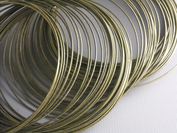 WIRE-AB-0.7MM - Antique Bronze Wire, non coated, 22 gauge, Round, Half Hard...20ft