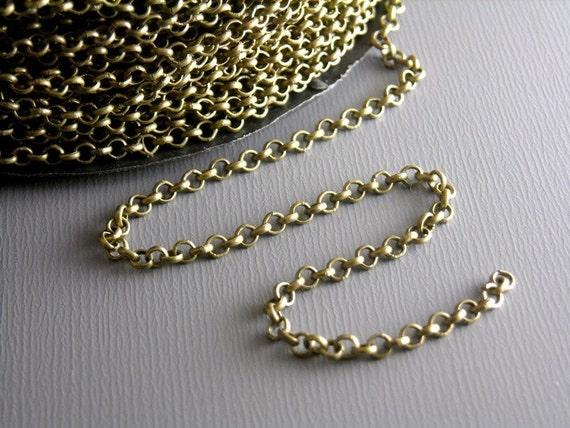 CHAIN-AB-ROLLO-2MM - 2mm Antique Bronze Rollo Chain - 10 ft