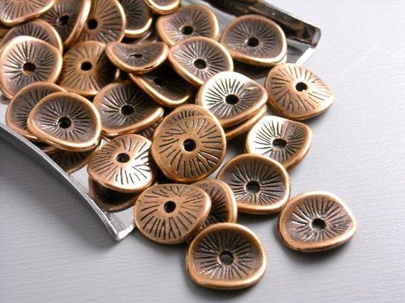 SPACER-COPPER-POTATOCHIP - 20 pcs Antique Copper Potato Chip Spacers