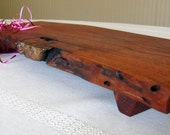Wood Cutting Board / Serving Tray / Chopping Block - Natural Edge Mesquite Wood  (Can be personalized)