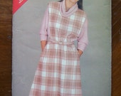 1985-Vintage Butterick (See and Sew) Pattern 5429-  Misses DRESS-size B 14-16-18- UNCUT