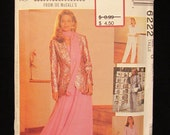 1992 -Vintage McCalls Sew News Pattern No. 6222- Misses Lined Jacket, Camisole, Skirt in Two Length, Pants and Scarf -size 20-22-24 - UNCUT