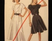 1980s-Vintage Simplicity New Look Pattern 6138-  Misses Dress in two Lengths- Size 8-18 - UNCUT