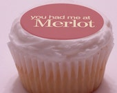 Frosting Gallery Wine Party Edible Frosting Decals for Cupcakes, Cookies and more (2 inch circle-15 assorted sayings)