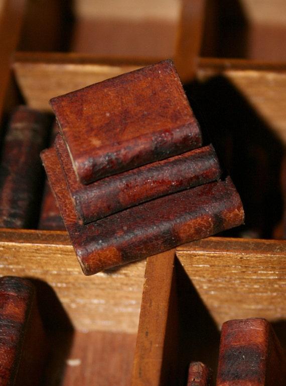 Miniature Leather Books - 3