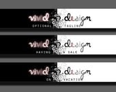 vivid design - OOAK - Premade Etsy Shop Set