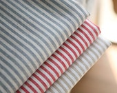 4mm Natural Stripe Linen Fabric, 1 Yard (You Choose Color)