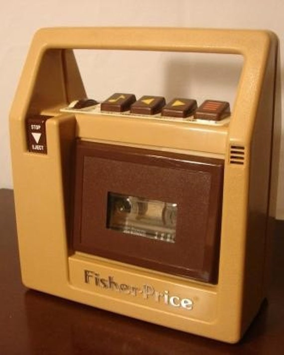Vintage 1980 S Fisher Price Cassette Tape Player