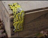 Sunny: yellow rose bracelet
