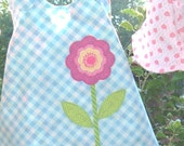 Baby Girl Reversible Floral Sundress or Jumper Bloomers and Hat Size 0 to 3 mos PRICE REDUCED