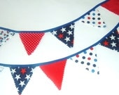 Patriotic Mini Bunting - Red White & Blue Garland