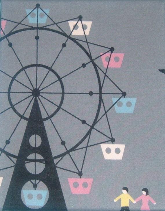 Carnival Ferris Wheel-  Nursery Wall Art -  8 x 10 Fabric Wall Art