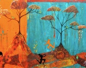 Ntombi ... original mixed media painting
