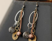 Many Metals Dangle Earrings