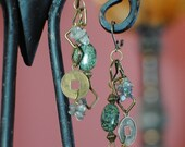 Green Tea Dangle Earrings